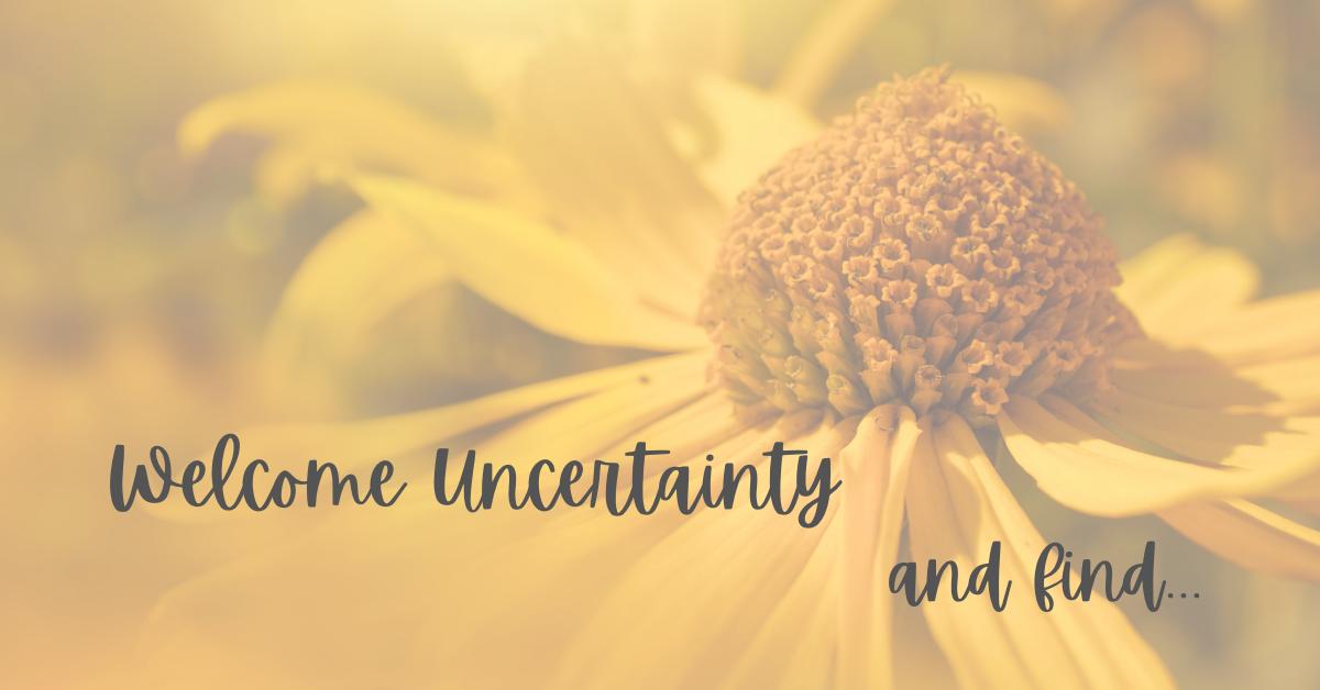 Welcome uncertainty
