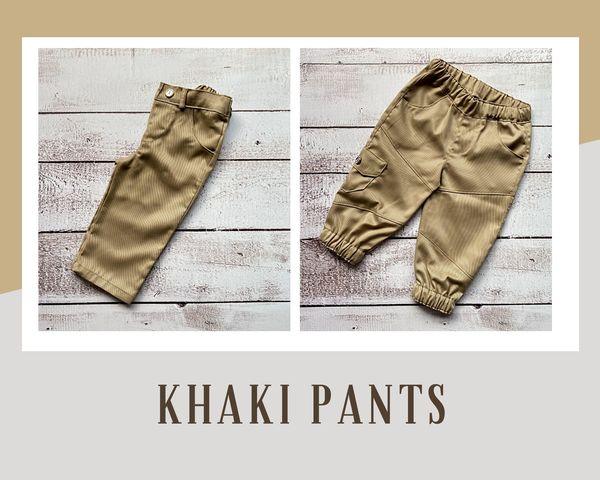 Khaki long pants