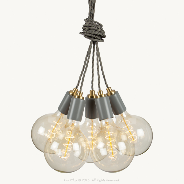 We've launched a new colour range of Signature Cluster Pendants that come in Stone Grey, Winter Blush, Misty Mint, Harbour Teal and White. They're unique with their twisted cord and machined Brass detailing. 