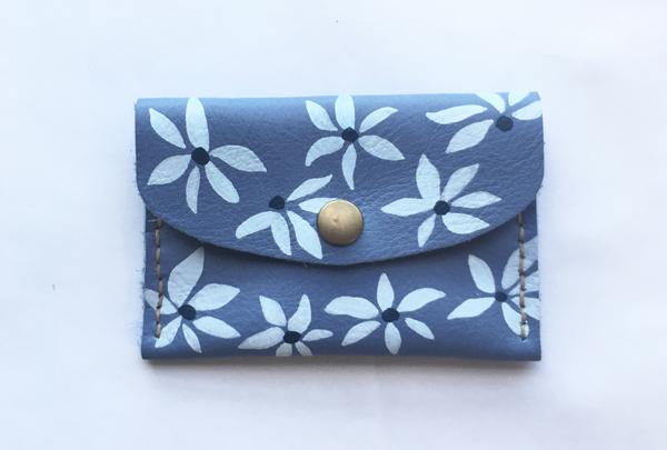 Mini purse - azure flourish