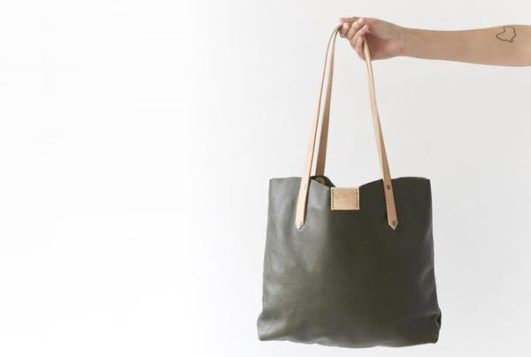 Soft Tote Bag - Olive