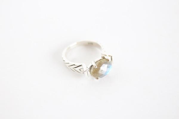 Labradorite Arrow Ring