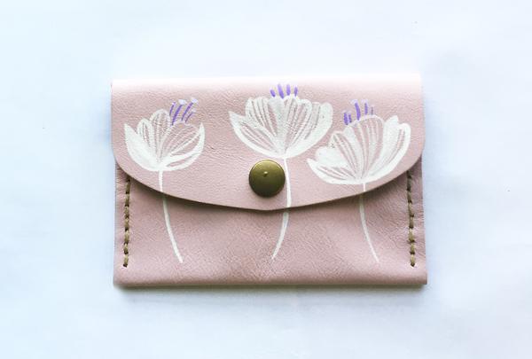 Mini purse - pink yaku