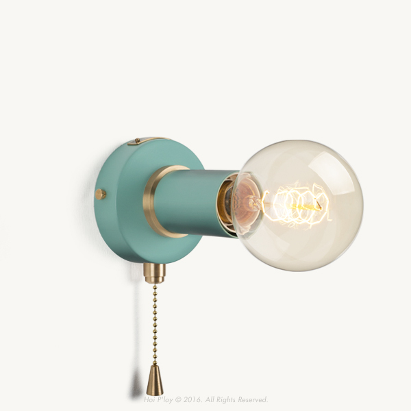 Pullchain Misty Mint Simple Wall Sconce