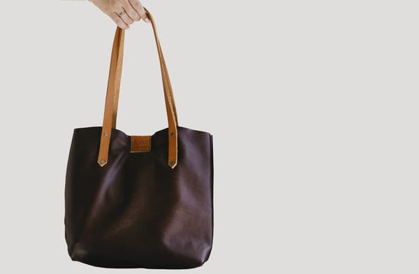 Soft Tote Bag - earth + tan