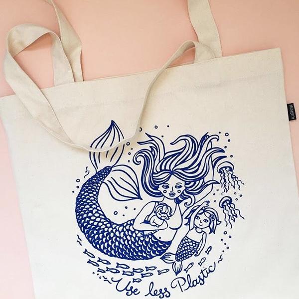 Mermaid Mama Tote Bag