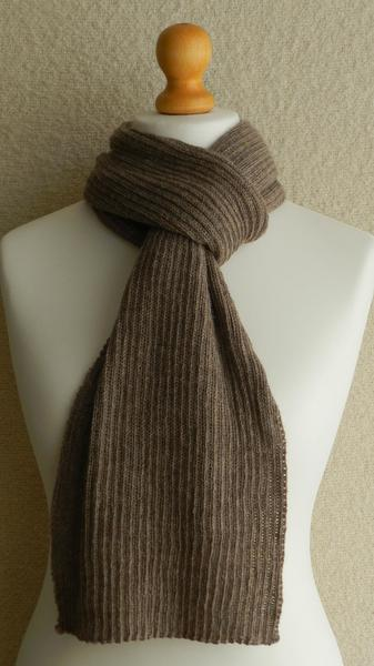 SCARF - RIB - KNITTED
