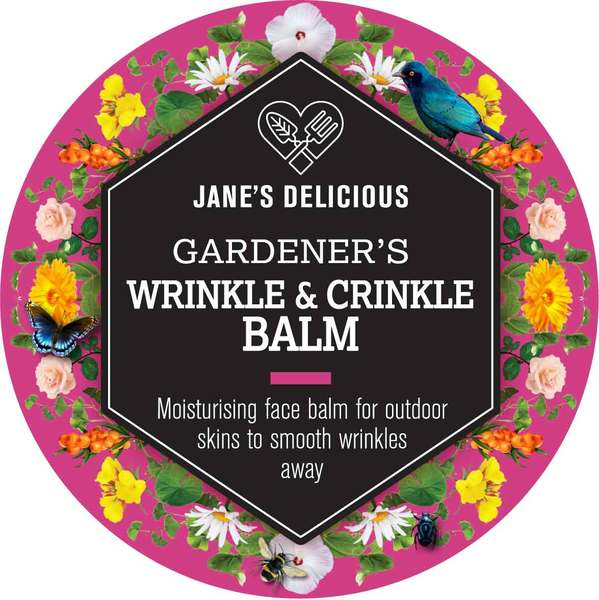 A deeply moisturising face balm for outdoor skin to smooth wrinkles away.  Particularly good for dry skins.  With beeswax, shea butter, argan oil, carrot seed oil, coconut oil, evening primrose oil, jojoba oil, rose hip oil, sea buckthorn berry oil and vitamin E oil; calendula, pennywort and marshmallow root extracts; chamomile, frankincense, lavender and rose essential oils.  Made with 100% natural ingredients. In a screw top aluminium tin.  Tested on gardeners!