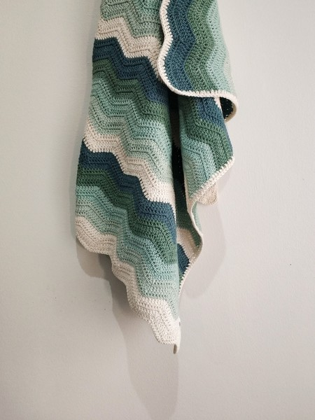 The Grace Blanket (Green Rainbow)