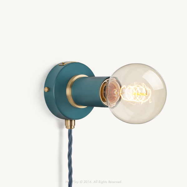 Portable Harbour Teal Simple Sconce