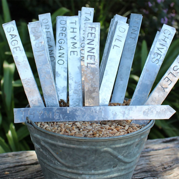 Vegetable and Herb Plant Labels