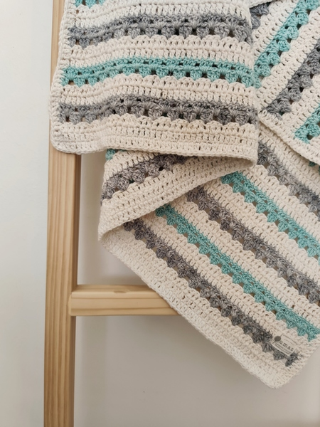 The Stripey Blanket (Grey/Mint)