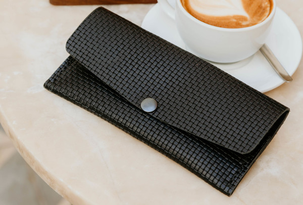 Long wallet - basketweave