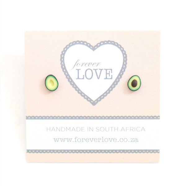Avocado Polymer Clay stud Earrings