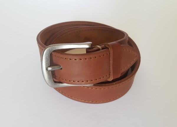 Medium Brown Belt - stitched