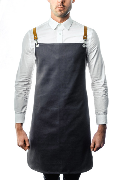 Bull Denim Aprons with Genuine Leather Straps