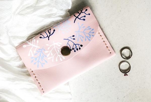 Mini purse - fronds
