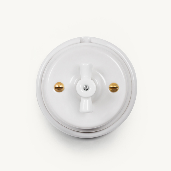 Button Hole Porcelain Wall Switch