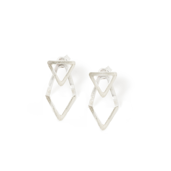 """Spanish walk and Extension Double Sided Earrings (Triangle """"V"""" Shape)"""