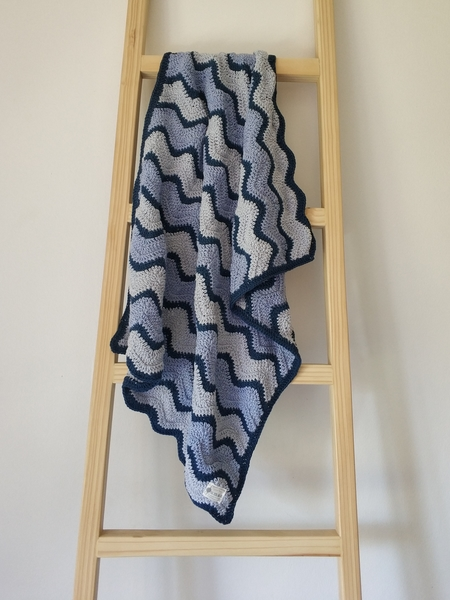 The Peace Blanket (Navy/Blue/Grey)