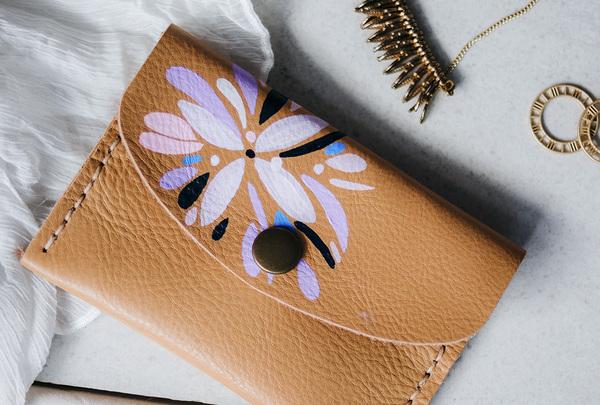 Mini purse - sand abstract