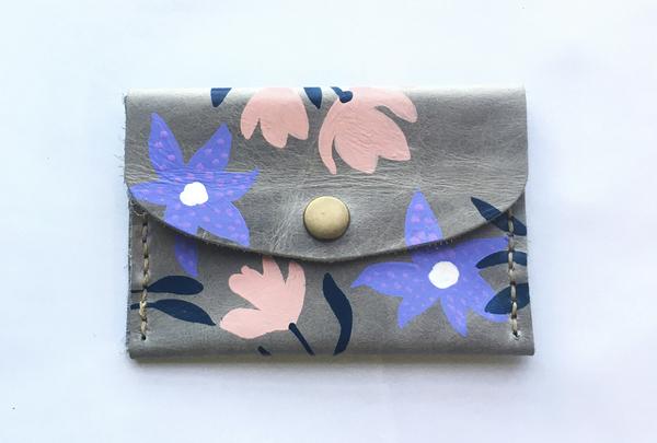 Mini purse - grey bouquet