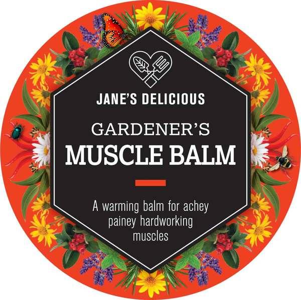 Jane's Delicious Gardener's Muscle Balm 50g