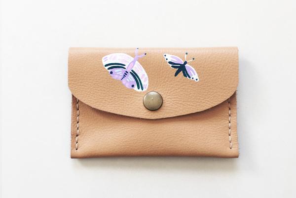 Mini purse - moths