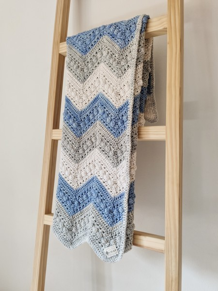 The Love Blanket (Blue/Grey)