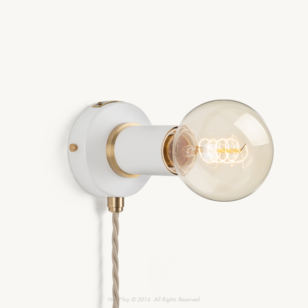 Portable White Simple Sconce