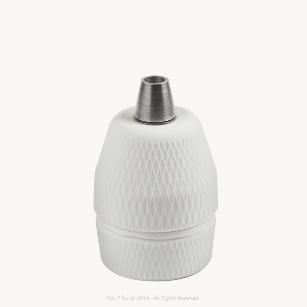 Diamond Porcelain Lamp Holder with Stainless Steel