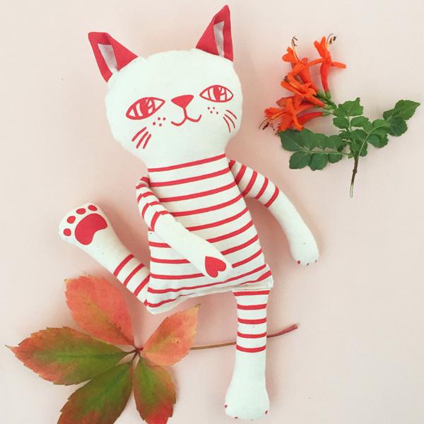 Mr. Stripes DIY soft toy kit