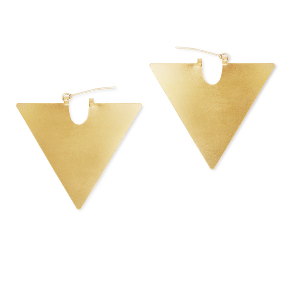 The Airs Earrings (Triangle Brass Shape)