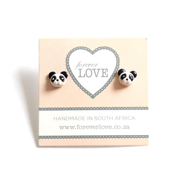 Panda Polymer Clay stud Earrings