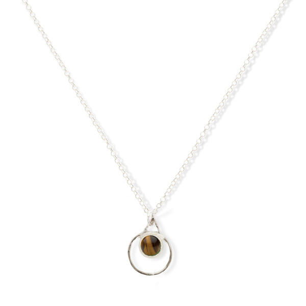 Small Single Chakra Pendant (Tigers Eye)
