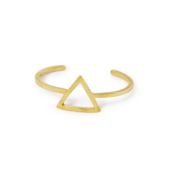 The Pesade (Triangle shape Brass Bangle)