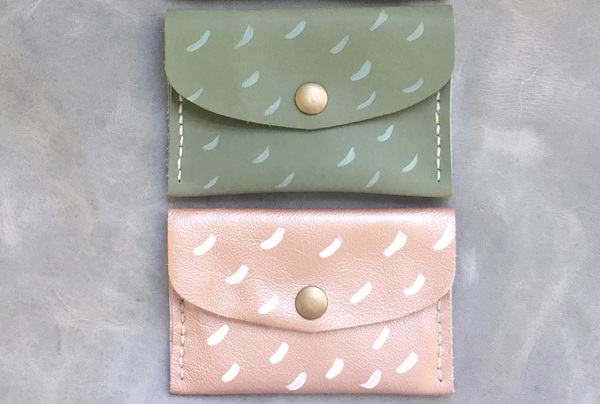 Hand painted Mini Purses - dashes
