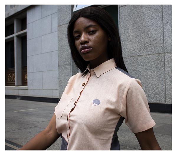 Ladies Linen Button Up Shirt