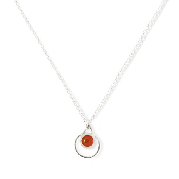 Small Single Chakra Pendant (Canelian)