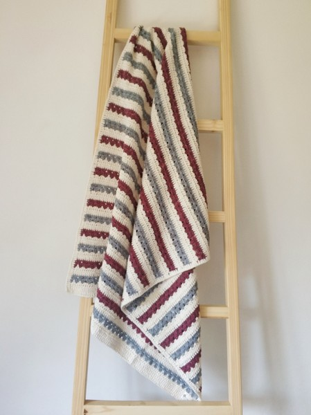 The Stripey Blanket (Grey/Berry)