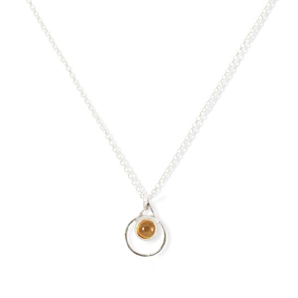 Small Single Chakra Pendant (Citrine)