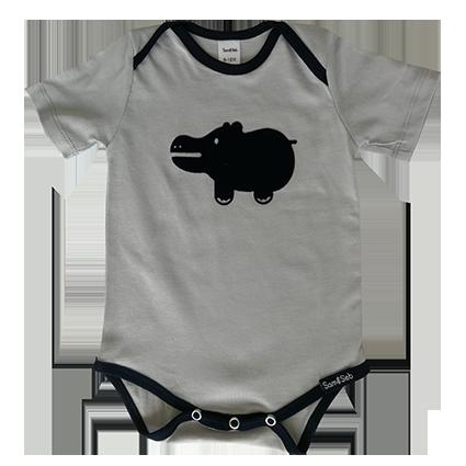Hippo baby tee/onesie- Navy