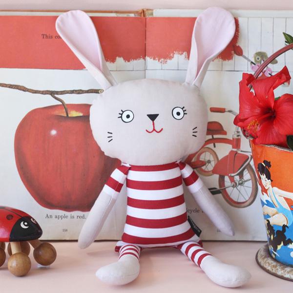 Pyjama Bunny - Bold Red Stripe