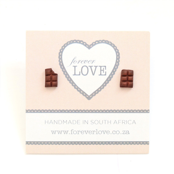 Chocolate Polymer Clay stud Earrings