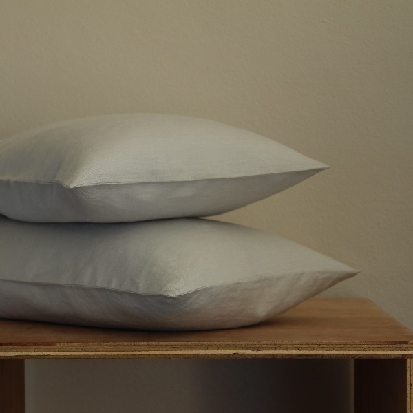 True Linen Collection – Plain Pillowcases (2) - Mist