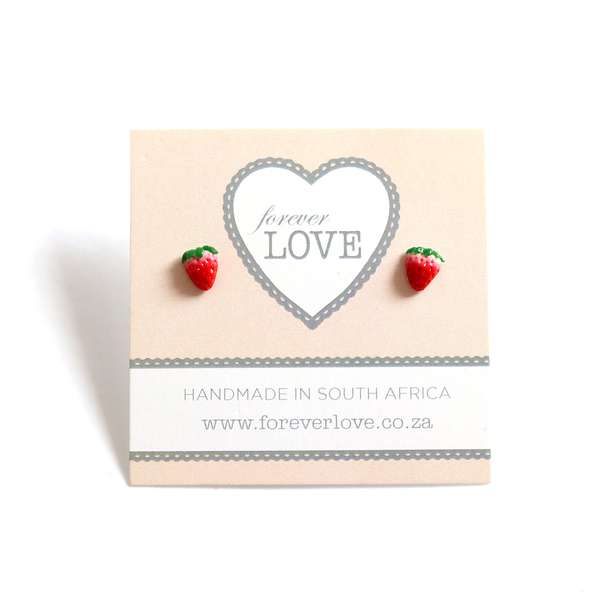 Strawberry Polymer Clay stud Earrings