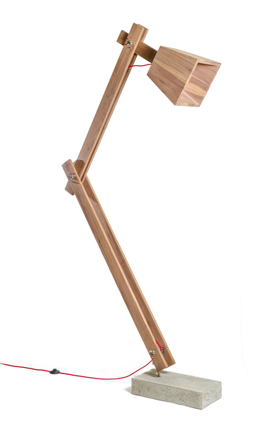 Our floorlamp is made from American Walnut, Rosewood orNamibian Teak timber  The floor lamps is 2200mmin heightand can be adjusted to a lower position . The lamps are natural(unsealed) or oiled(sealed).  Lead Time: The lamps are made to order and has a lead time of4- 6 weeks.