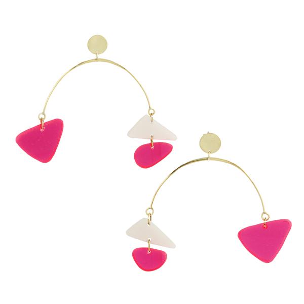 Rainbow Asymmetrical Mobile Earrings