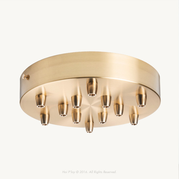 Extra Large Brass Ceiling Cup