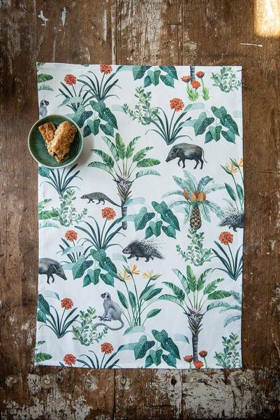 African Safari Tea towel